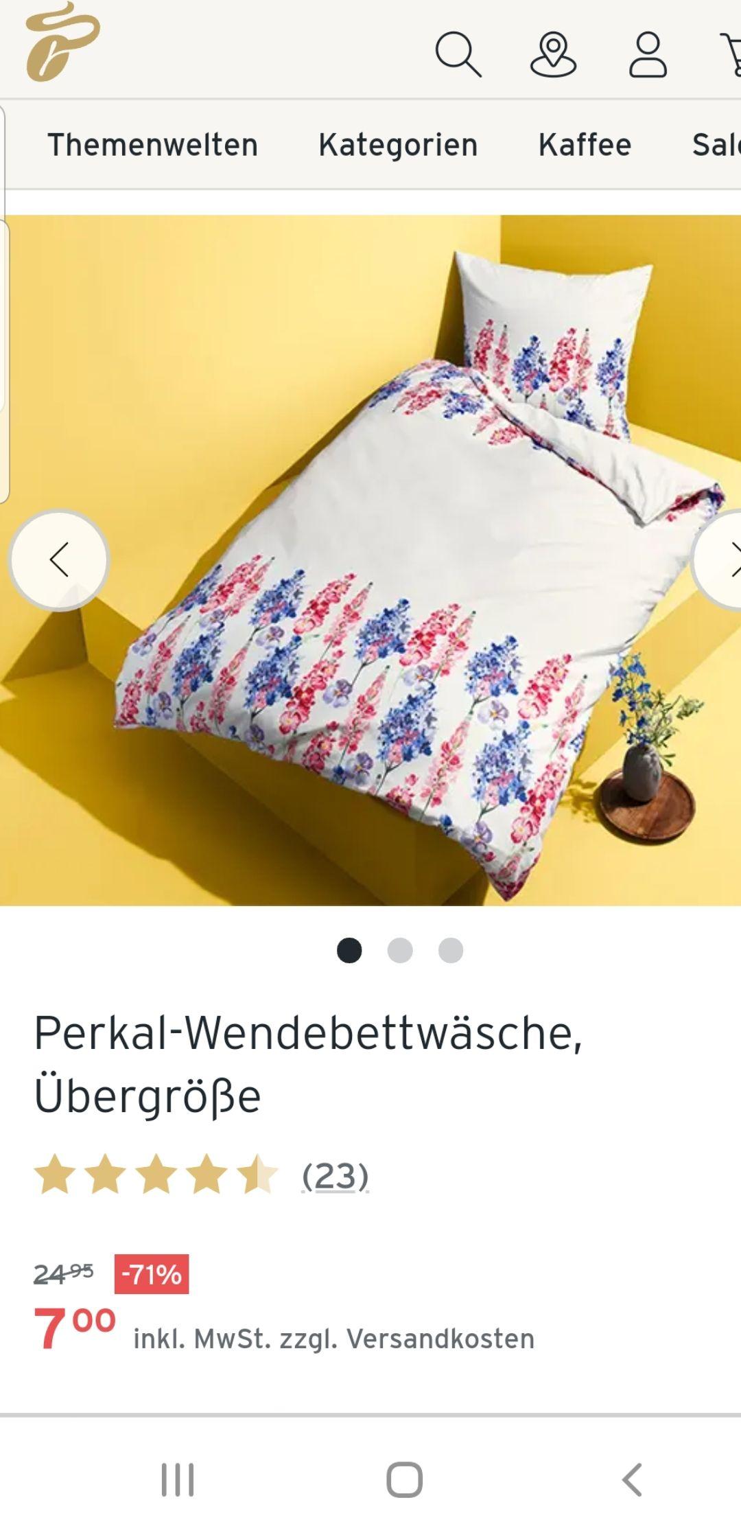 Tchibo Wende Bettwäsche, Bettbezug Übergröße (1,55m/2,20m) Abholerpreis.7Euro .Auch Online zuzgl Versandkosten.Ab 20Euro Versandkostenfrei.