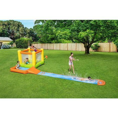 "[ ManoMano.de ] Bestway - H2OGO!™ Wasserpark ""Splash & Dash"" inkl. Dauergebläse / 662 x 300 x 150 cm"
