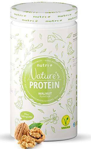 [Prime] 500g Nutri-Plus Nature's Protein Walnuss (82g Protein/100g, Soja, Erbse & Reis)