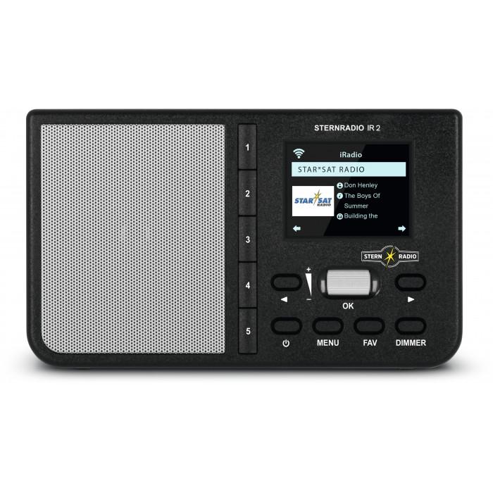 TechniSat Sternradio IR 2 Internetradio (WLAN, wechselbarer Akku, Farbdisplay, Direktwahltasten, Schlafradio-Sender, Wecker, App-Steuerung)