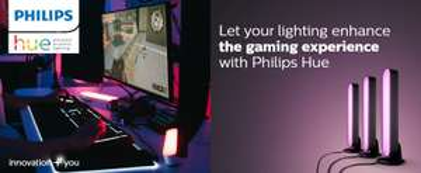 Proshop Hue Gaming Woche z.B. Philips Hue White & Color Ambiance Signe Stehleuchte für 345,39€ / Philips Hue SmartPlug 3er Pack für 60,39€