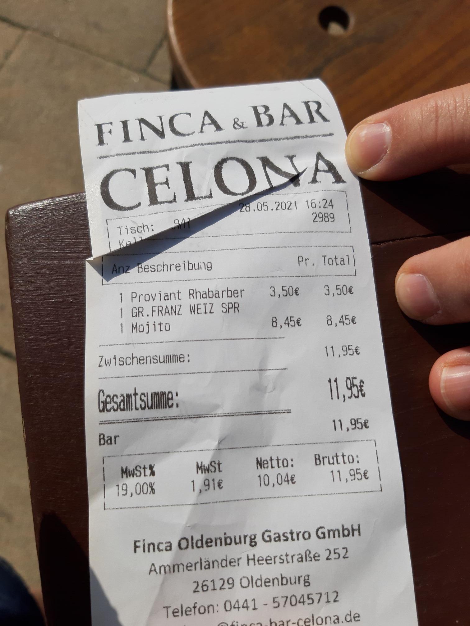 "[Lokal Celona Bar Bremen] Weizen-Sprite ""Russe"" 0,-"