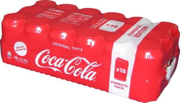 [Marktkauf Nord] 18x 0.33l Dose Coca Cola für 5.09€ zzgl. 4.50€ Pfand | 0.85€/Liter