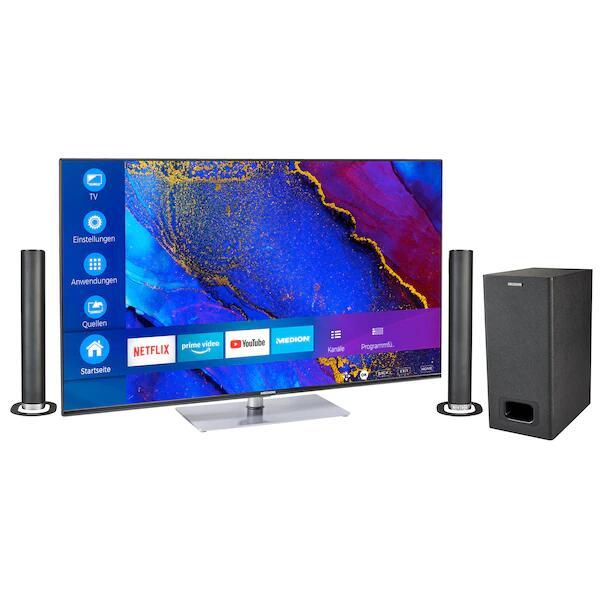 Fernseher MEDION LIFE X16564 65'' 4K UHD Smart-TV + P61220 TV-Soundbar