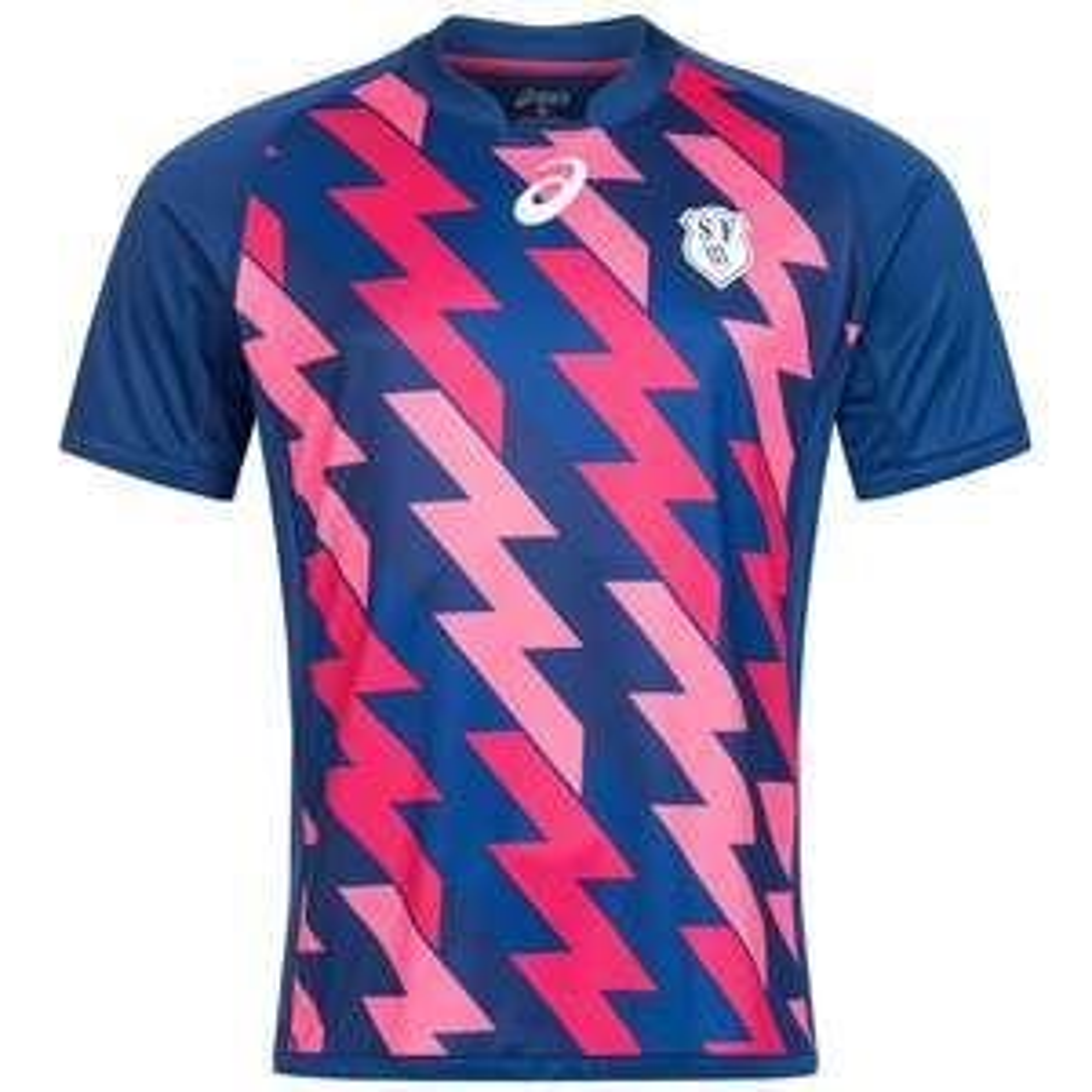 ASICS Stade Francais Rugby Heim Trikot für 7,77€ + 3,95€ VSK (Größe S - 3XL) [SportSpar]