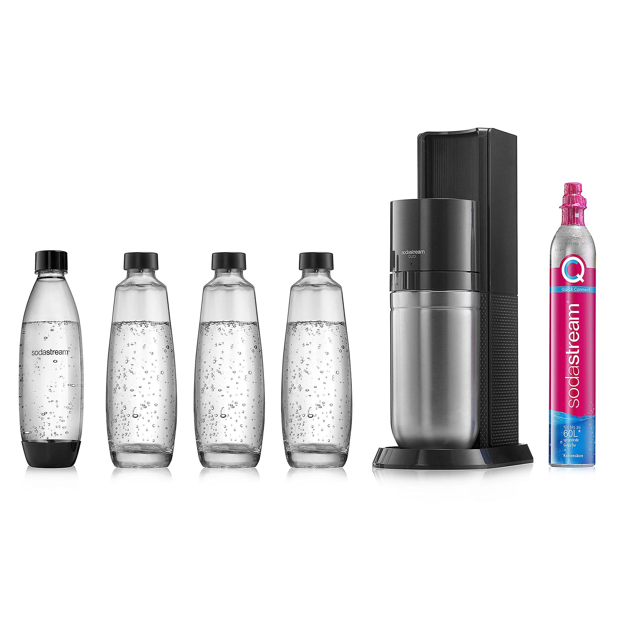 Sodastream Duo mit 3 Glas- und 1 Plastikflaschen