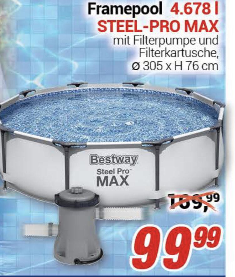 Bestway Pool »Steel Pro MAX™ Frame« (Set), ØxH: 305x76 cm [centershop, lokal]