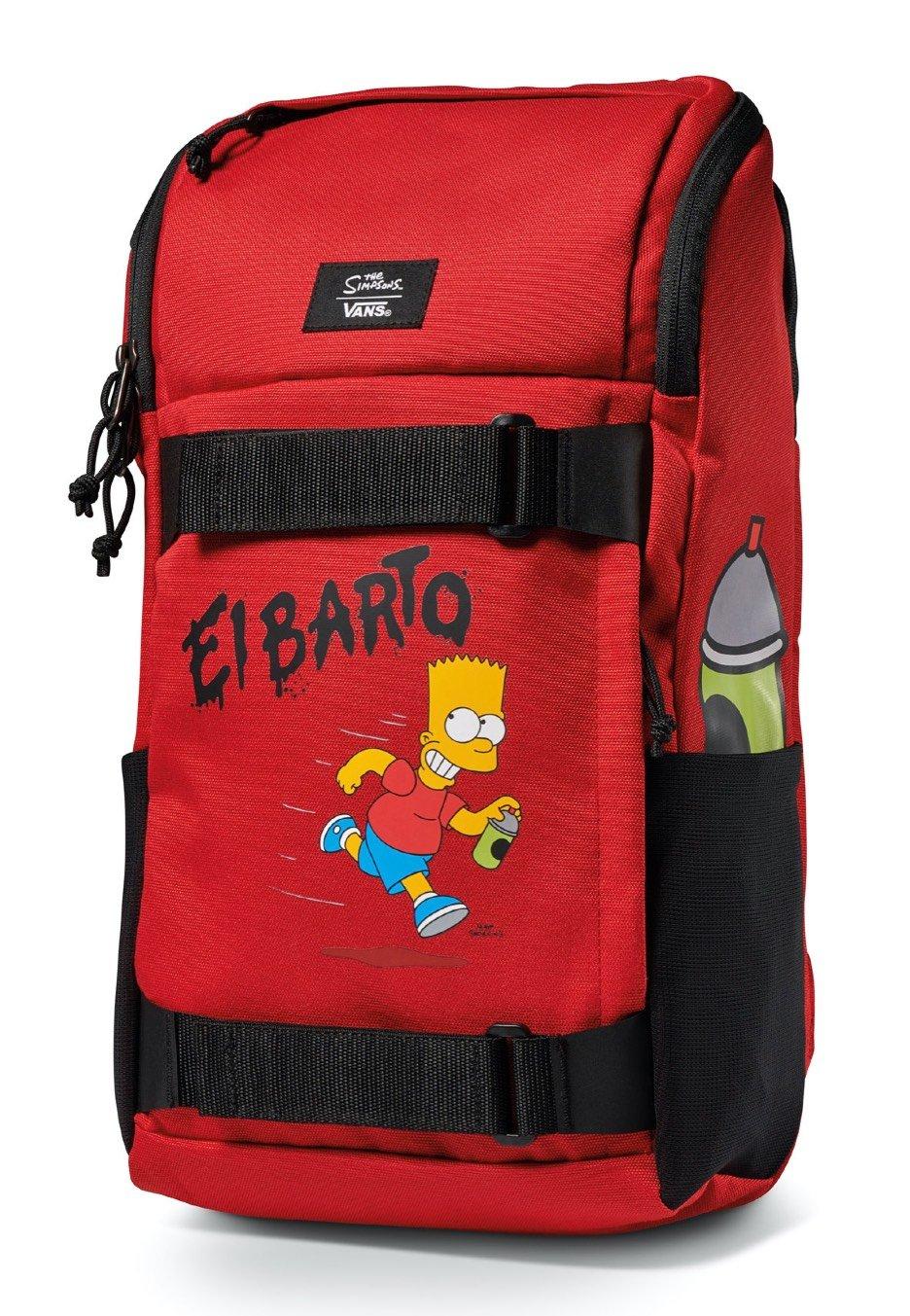 "[ Impericon.com ] VANS x Simpsons / El Barto Rucksack ""Obstacle Skate Pack"" / Rot - Schwarz / 16l - 20l"