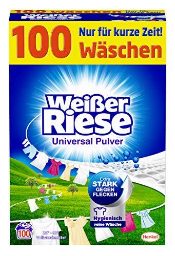 """Amazon Prime: 100 Waschladungen ( 8,24€/15%Abo) Weißer Riese Vollwaschmittel """"Pulver"""", Vergleichspreis Kaufland Angebote"""