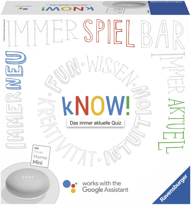 Ravensburger Spiel - kNOW! mit Google Home Mini [Hugendubel]