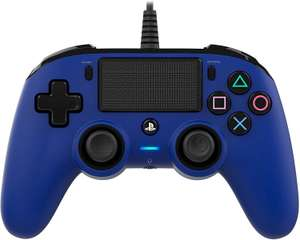 Nacon Wired Compact Controller (Soft Touch, Vibration, Touchpad, LED, Klinkenanschluss) Blau [Playstation 4]