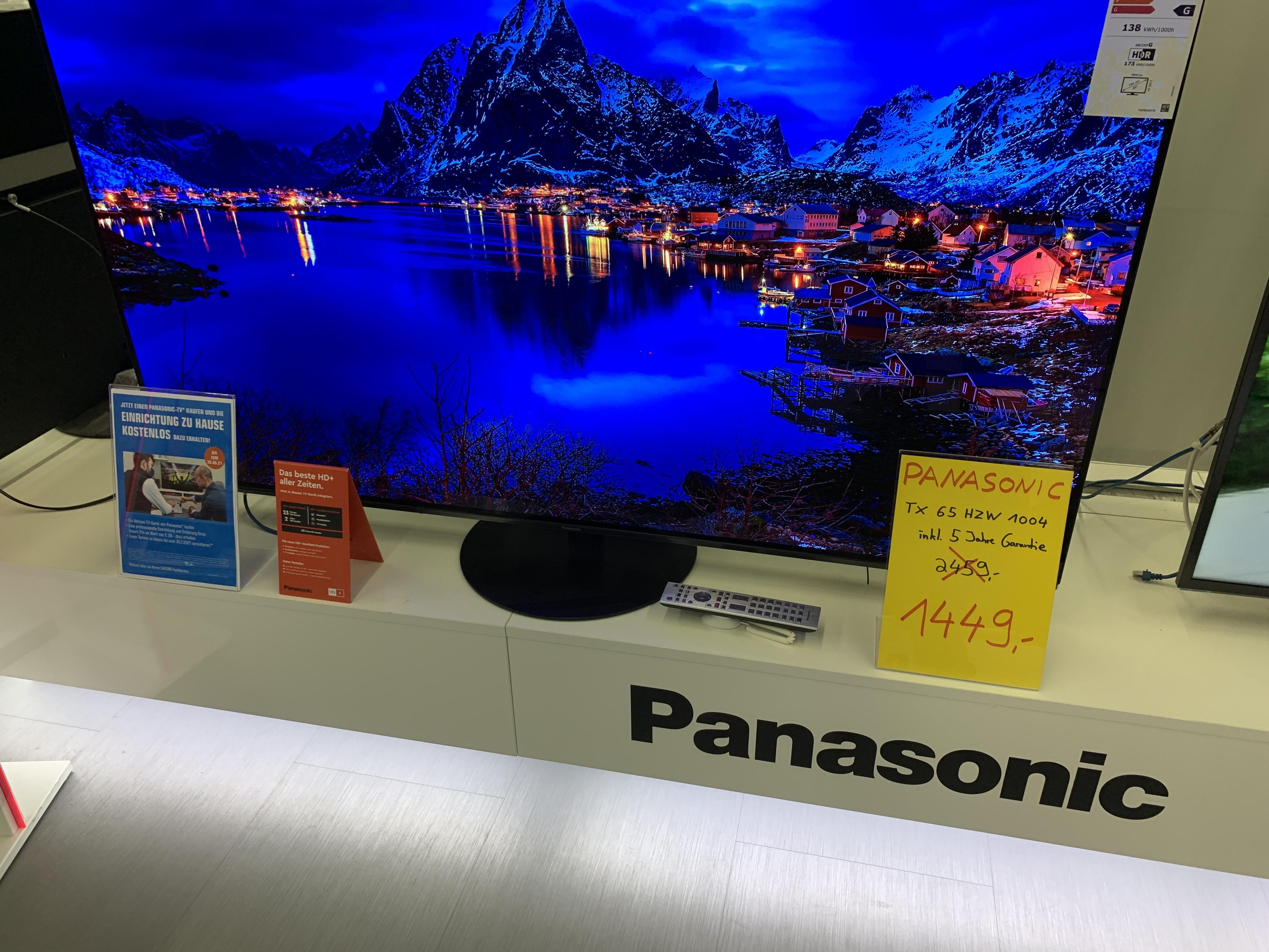[Saturn Leverkusen] Panasonic Aussteller!? Sammeldeal, Bsp. TX 65 HZW 1004 OLED TV inkl. 5 Jahre Garantie