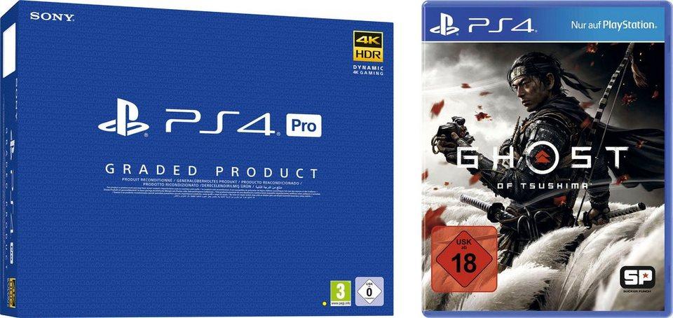 Otto Versandflatrate: Sony PS4 Pro generalüberholt + Ghost of Tsushima / weitere Spiele Bundles