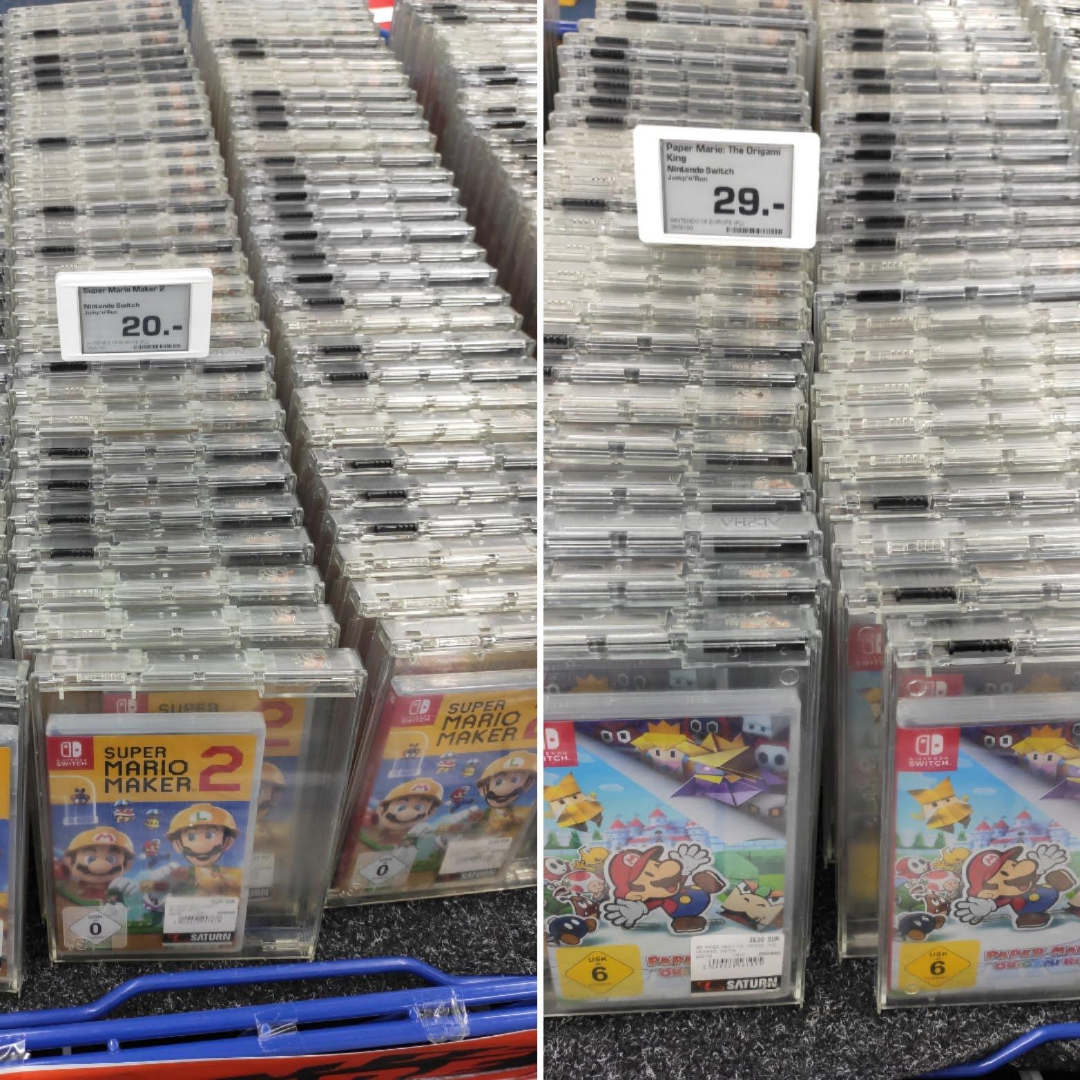 [Lokal Hamburg - Saturn Altstadt] Super Mario Maker 2 (Bestpreis) u. Paper Mario: The Origami King (Nintendo Switch)