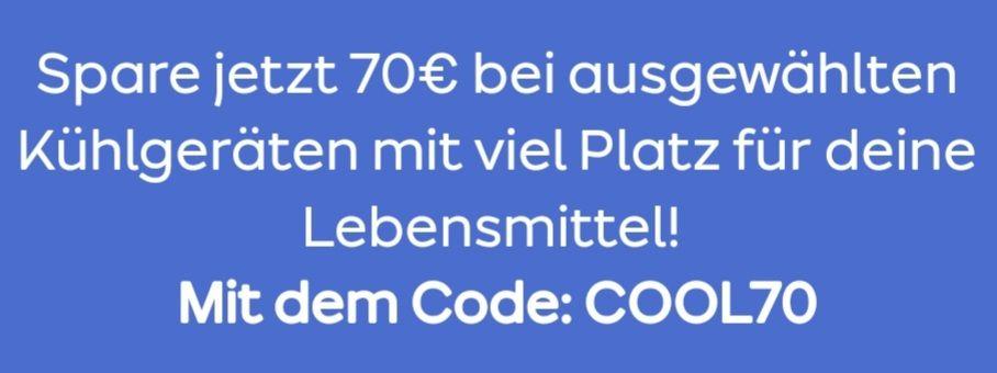 ao 70 Euro sparen bei ausgewählten Kühlgeräten mit Code: COOL70