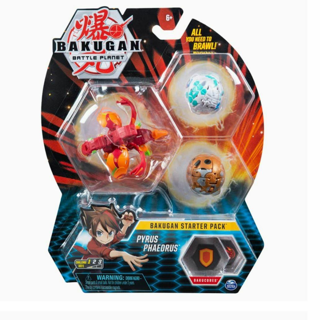 (Amazon Prime) Bakugan Starter Pack mit 3 Bakugan (1 Ultra & 2 Basic Balls), unterschiedliche Varianten