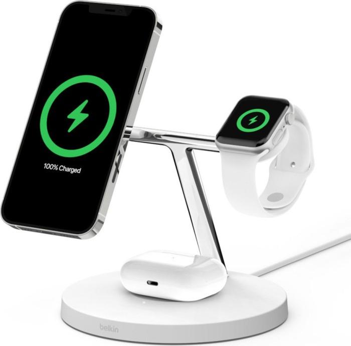 [FundK] Belkin BoostCharge Pro 3-in-1 MagSafe Wireless Charger (15w FastCharge, weiß oder schwarz)