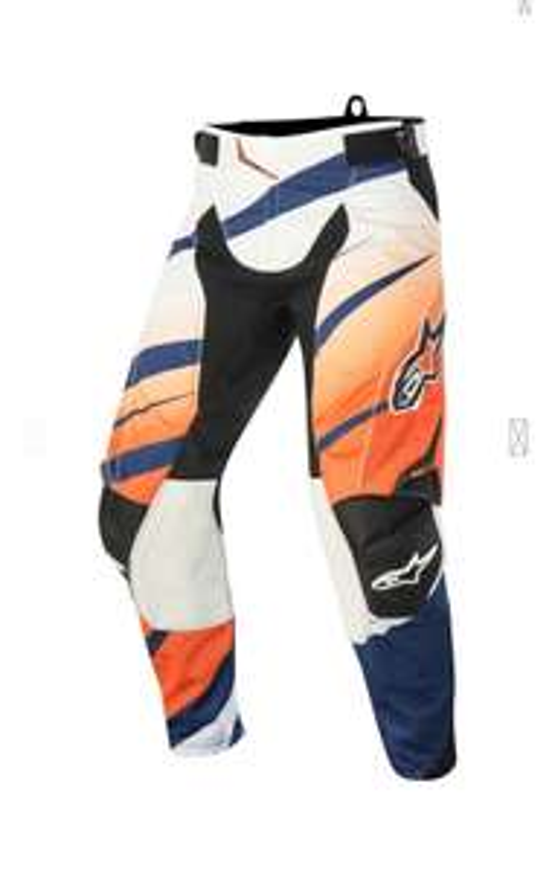 Crosshose Alpinestars Techstar Venom Orange-Weiß-Marineblau
