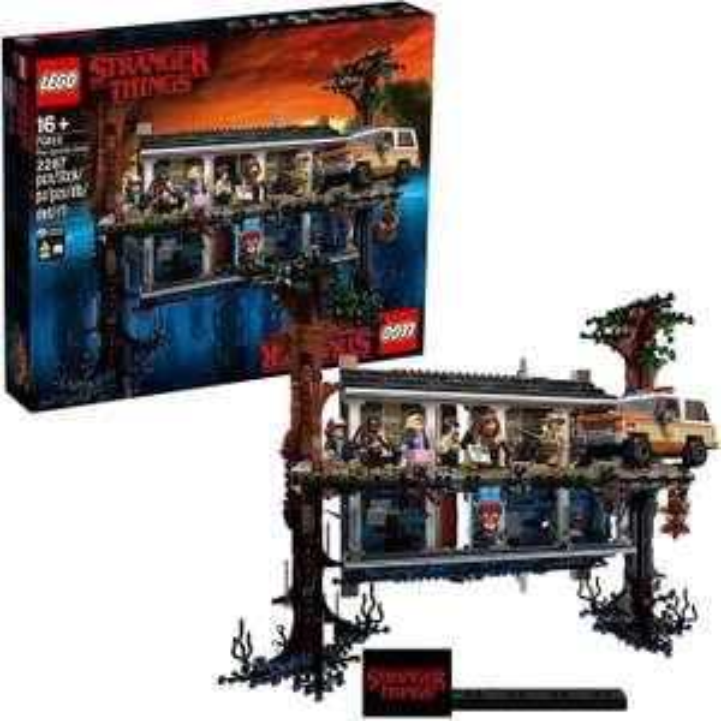 LEGO 75810 Stranger Things - The Upside Down World - Bau-Set bestehend aus Will's House & 8 Minifiguren