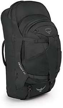 Osprey Farpoint 55 Men's Travel Pack 55 L, mit abnehmbarem 13 L Daypack, S/M, volcanic grey; jasper red 64,31€ [Amazon]