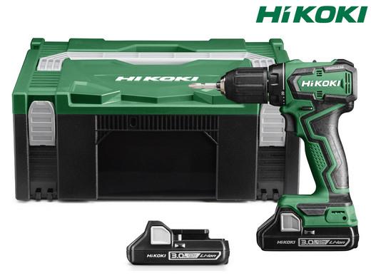 Hikoki (ehemals Hitachi) 18V-Akku-Bohrschrauber DS18DDWQZ (2x 3Ah-Akku, Ladegerät, Transport-Box, Bürstenlos) [iBOOD]