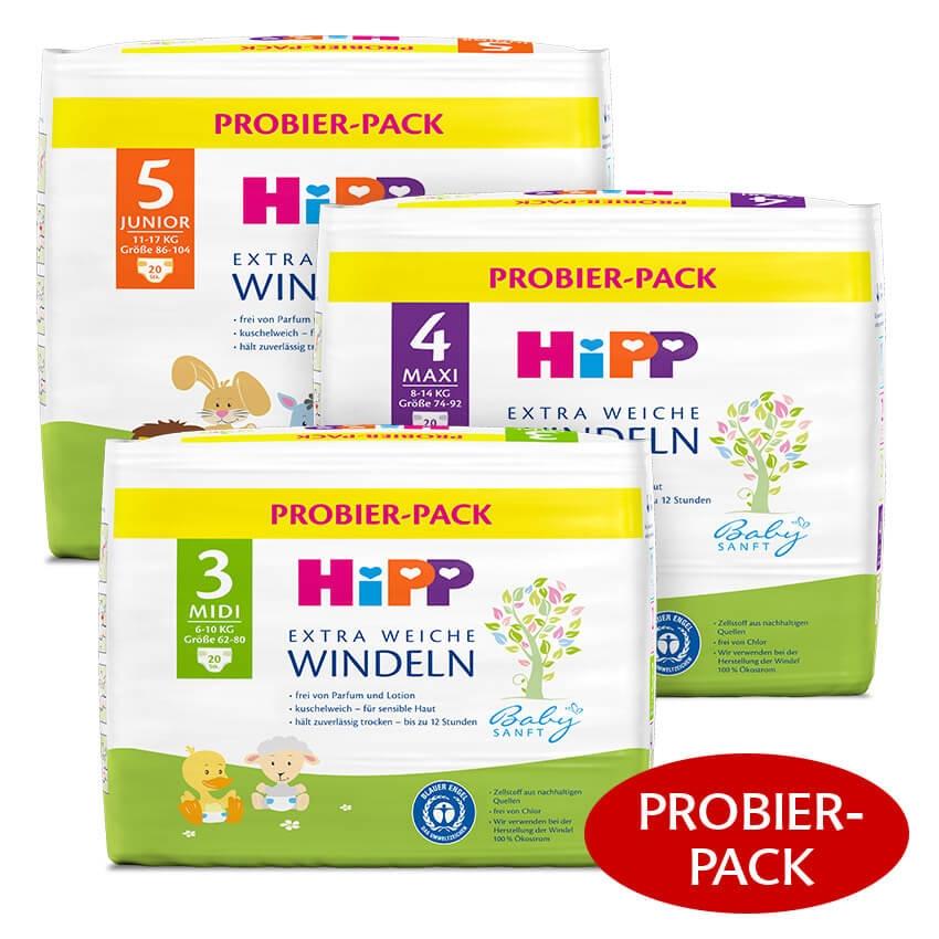 [GLOBUS] HiPP Extra Weiche Windeln Probier-Pack für 0,99€ = 0,05€/Windel (Angebot+Coupon)