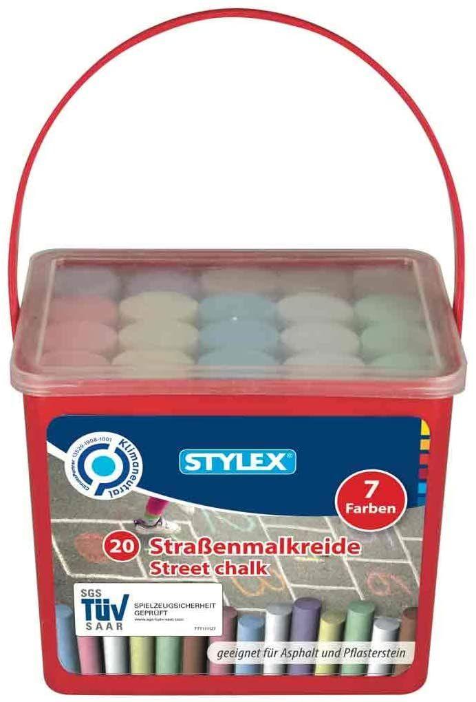 Stylex Straßenkreide, 20 Stück in 7 verschiedenen Farben, Aldi Süd und Nord ab 14.06.21