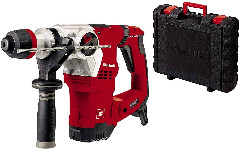 Einhell Bohrhammer TE-RH 32 E (1250 W, 5 J, Bohrleistung Ø 32 mm, SDS-Plus-Aufnahme, Metall-Tiefenanschlag