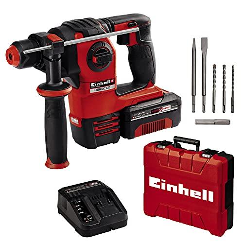Einhell Herocco Kit - SDS plus Bohrhammer 18V, 2,2J - incl. 3Ah Akku, Lader, Koffer & Zubehör [Prime Tagesdeal]