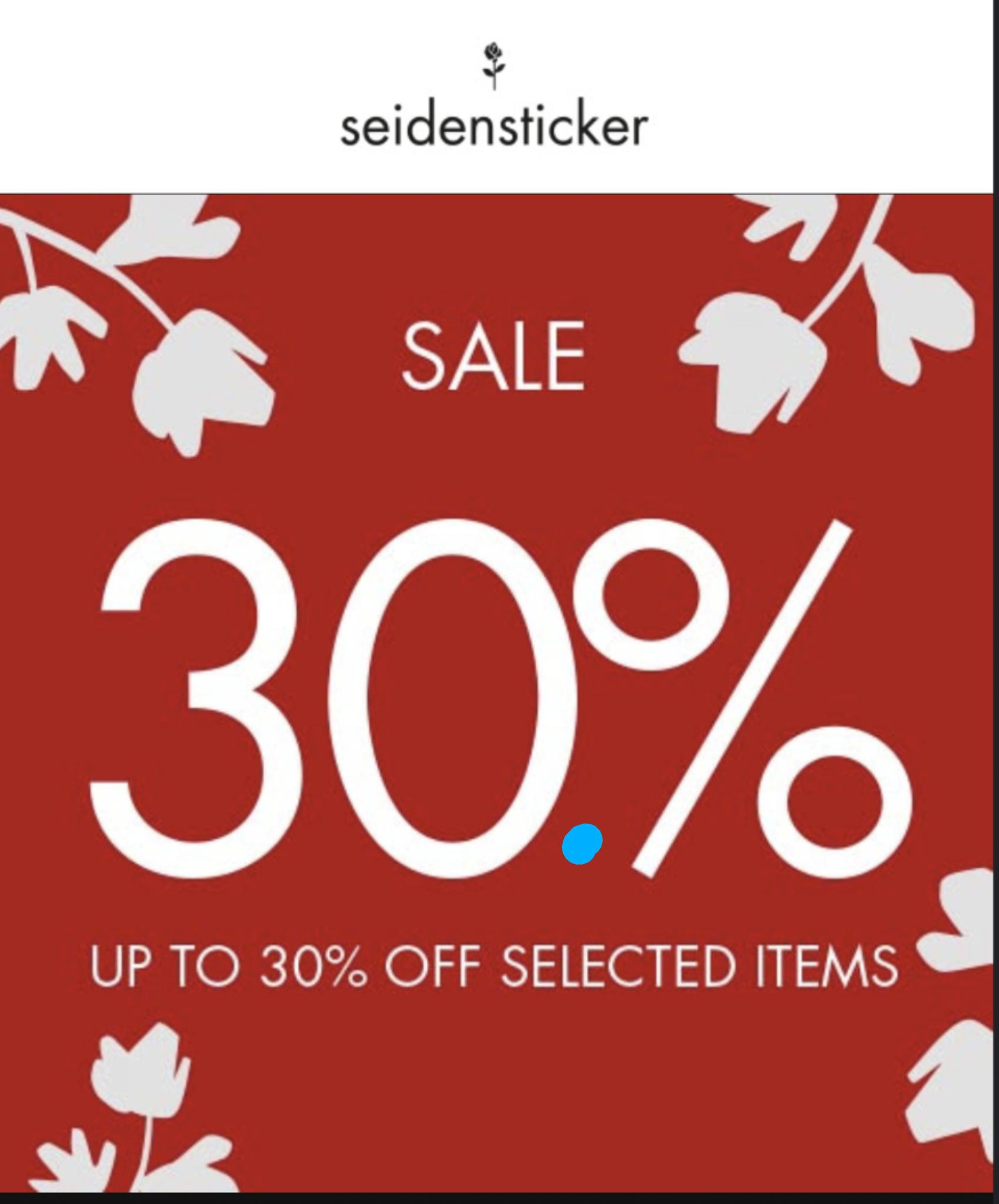 Seidensticker Sale - 30%