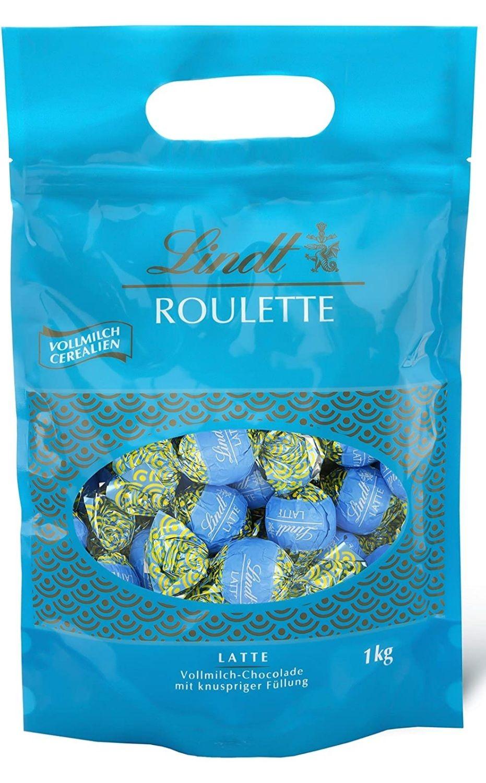 Lindt ROULETTE 1 kg Beutel Vollmilch-Cerealien, Vollmilch-Schokolade mit cremiger Schokoladenfüllung und knusprigen Cerealien