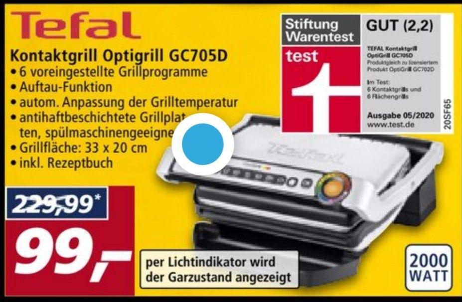 Optigrill gc705d bei Real