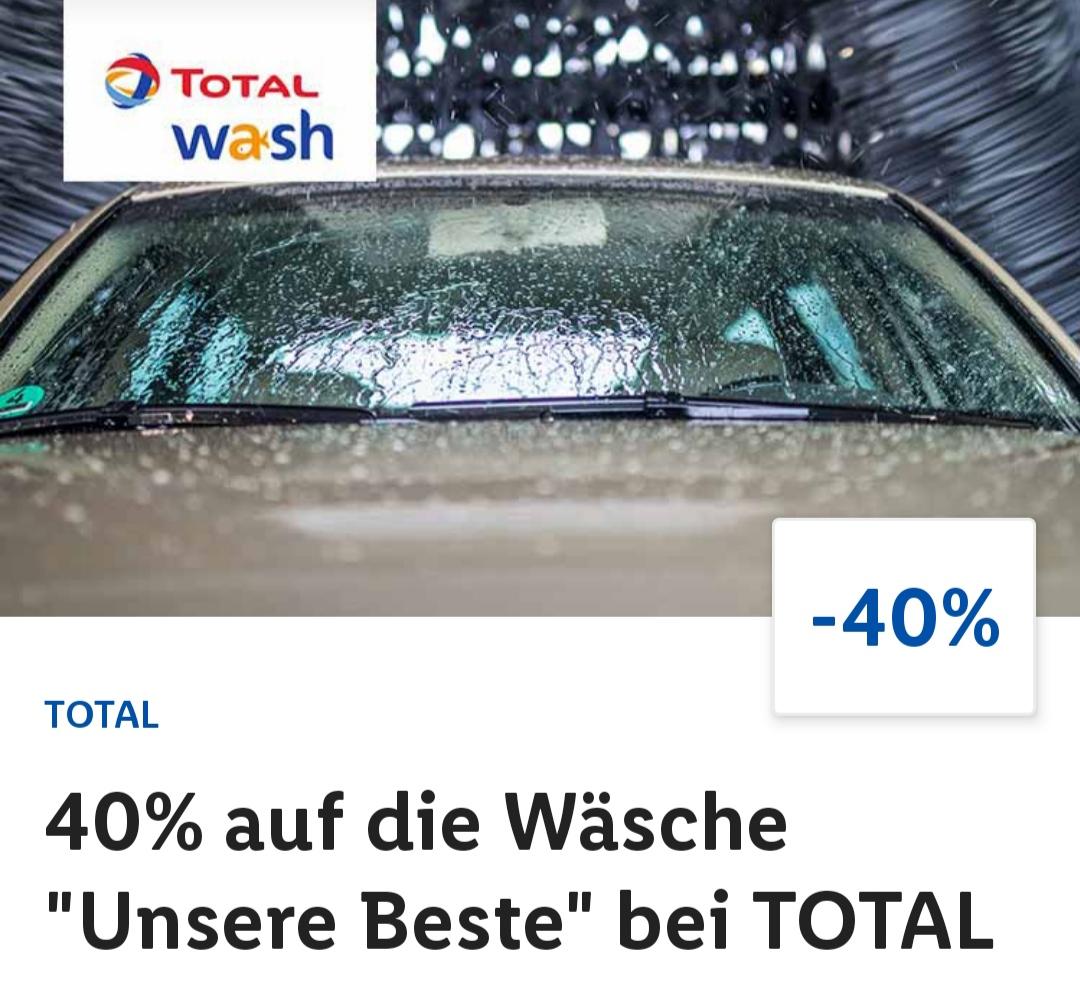 """Total Autowäsche """"Unsere Beste"""" für 7,99 € statt 13,49 € durch Gutschein aus der Lidl-Plus App"""