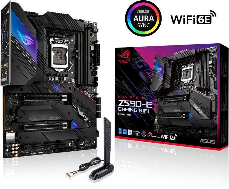 ASUS ROG STRIX Z590-E GAMING WIFI ATX Mainboard 1200 DP/HDMI/M.2/USB3.2/WIFI/BT [Computeruniverse]