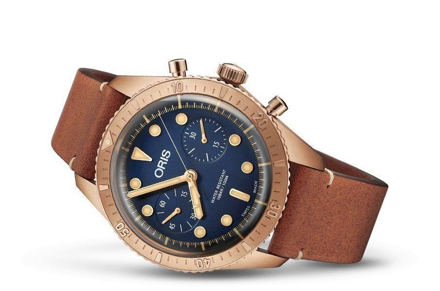 ORIS Carl Brashear Automatikuhr Chronograph aus Bronze vom Konzi / Limitiert auf 2.000 St