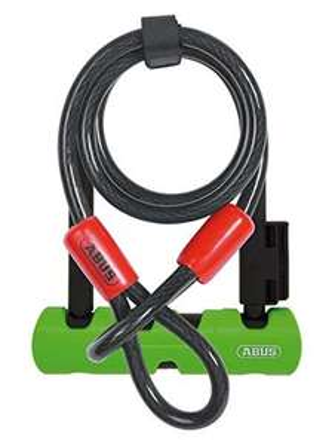 [Prime] ABUS Ultra Mini 410 Bügelschloss + Sicherungskabel Cobra 10/120 (14cm, Sicherungslevel 8 von 15, 1.060g)
