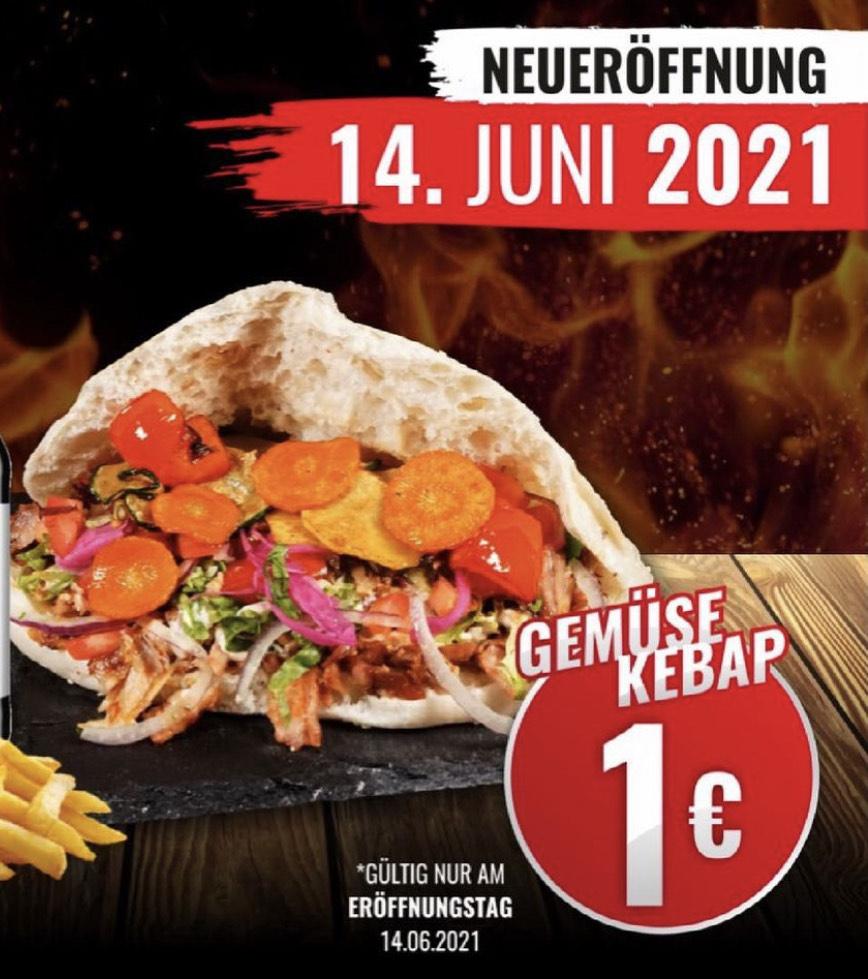 Gemüse Kebab für 1€ [Lokal Fürth]