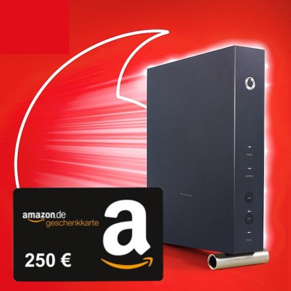 Vodafone Red Internet & Phone 250 Cable (250 Mbit/s) für eff. 19,16€ / Monat durch 250€ Amazon Gutschein & 140€ Online-Vorteil