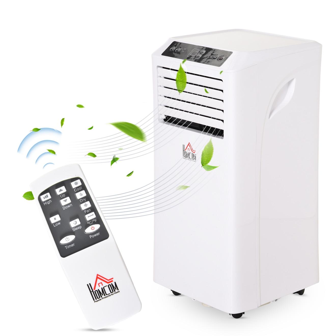 Homcom Mobile Klimaanlage (10.000 BTU bzw. 2900W Kühlleistung, inkl. Installationsmaterial & Fernbedienung)