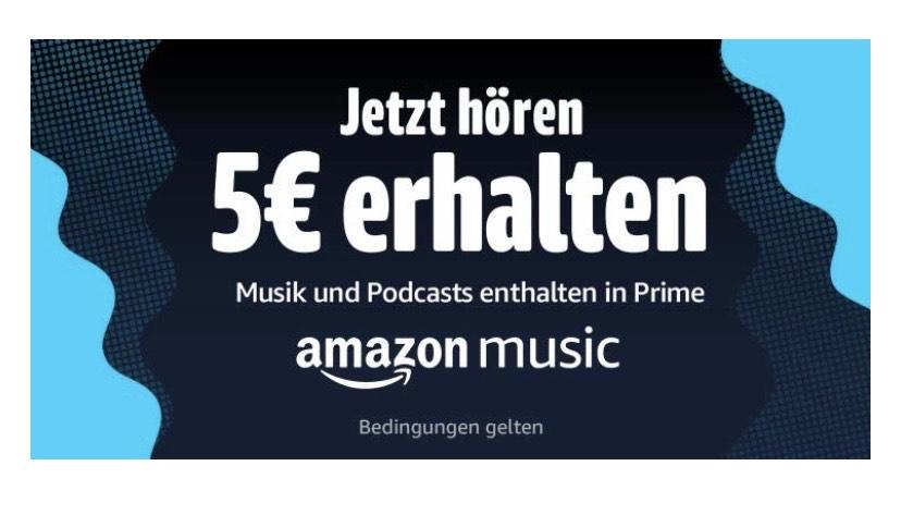 Amazon Music 30 Sekunden hören und 5 € Gutschein bekommen (eventuell Personalisiert)