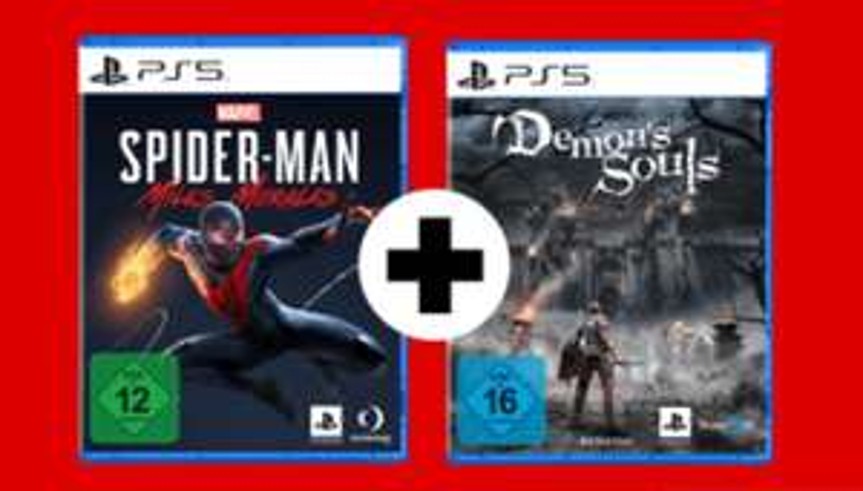 [Media Markt / Saturn] Sony Bundle Aktion z.B. Marvel's Spider-Man: Miles Morales PS5 + Demon's Souls (PS5) für 69,99€