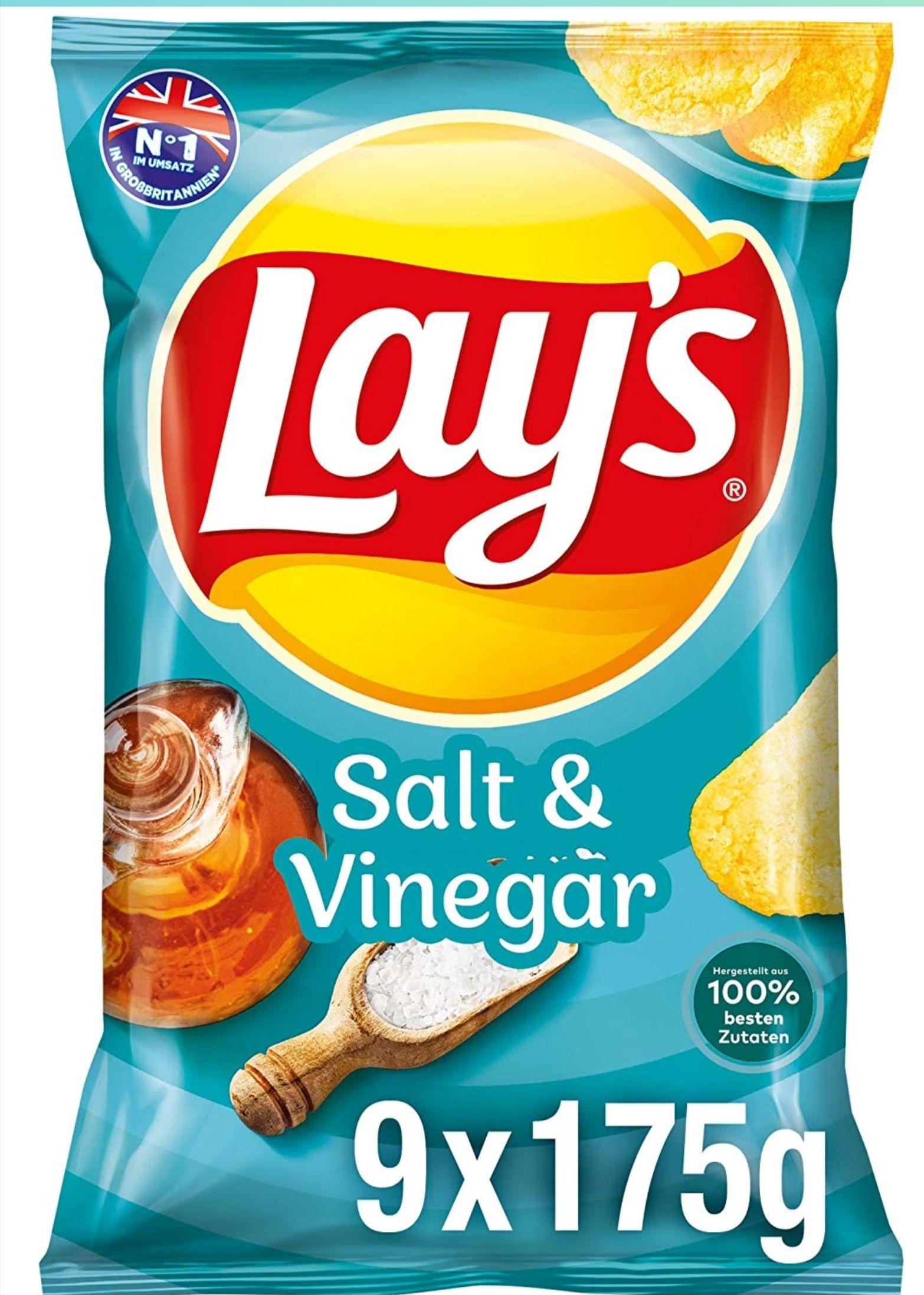 [Amazon Sparabo] Lay's Chips mehrere Sorten – Knusprig gewürzte Kartoffelchips für eine gelungene Party – 9 x 175g