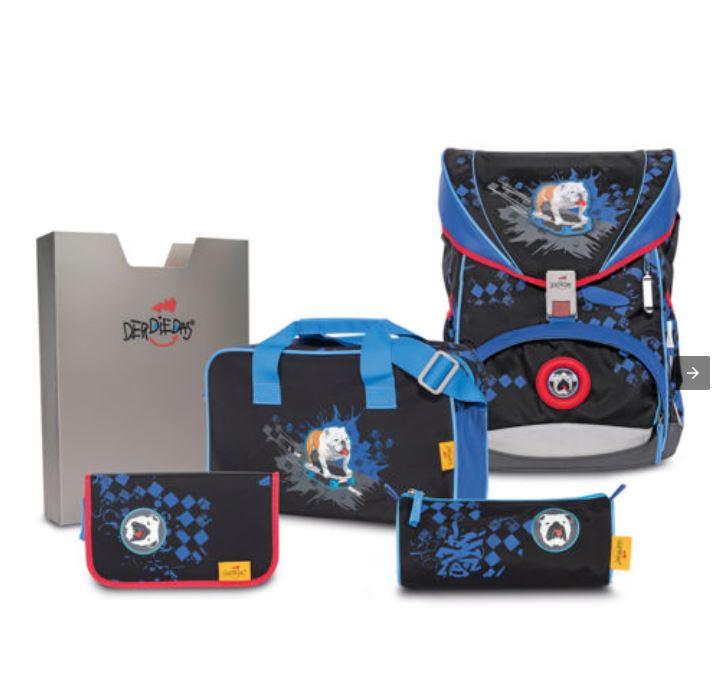 ErgoFlex Schulrucksack Set 5-teilig Skate Dog von DerDieDas / Preis bei Zahlungsoption Vorkasse