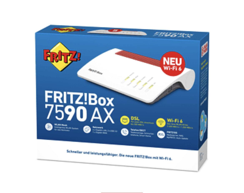 AVM FRITZ!Box 7590 AX (Wi-Fi 6) VDSL/ADSL WLAN Router 2400 kbit/s