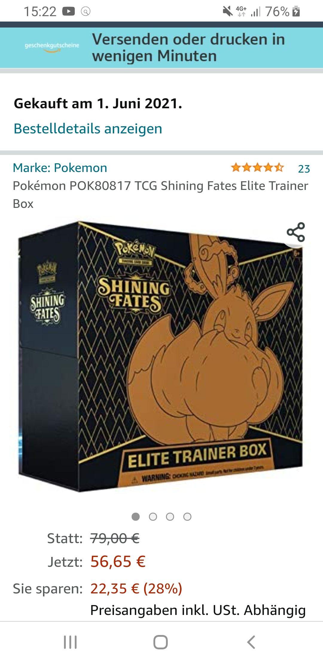 Pokemon TCG Shining Fates ETB