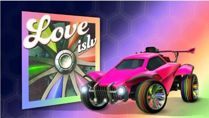 Rocket League - Pride Month, kostenlose ISLV Reifen und 8 Spielerhymnen gratis (PC, Xbox, Playstation und Nintendo Switch)