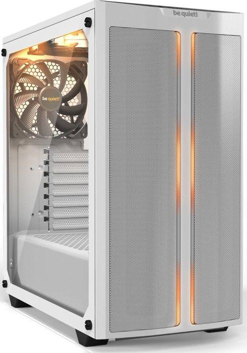 be quiet! Pure Base 500DX weiß (Seitenteil aus gehärtetem Glas, schallgedämmt, 3 vorinstallierte Lüfter, ARGB)