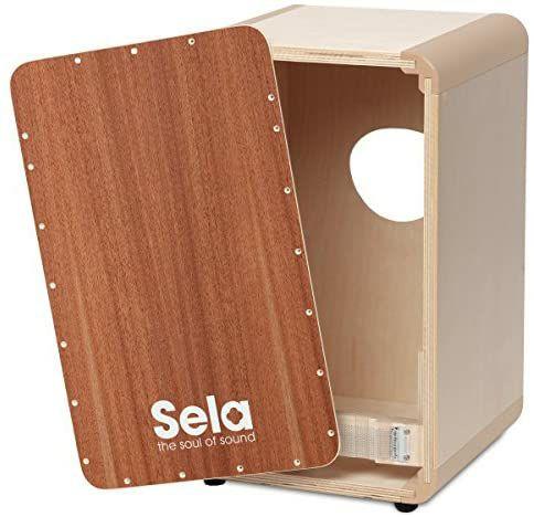 Sela Cajon DIY Schnellbausatz SE 037 - Trommelbox mit Edelfurnier Spielfläche, unlackiert [Amazon]