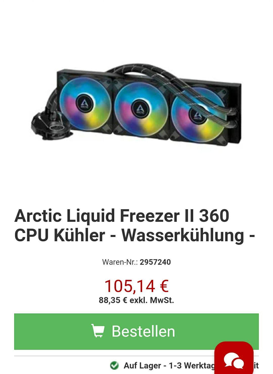 Arctic Liquid Freezer II 360 CPU Kühler - Wasserkühlung -