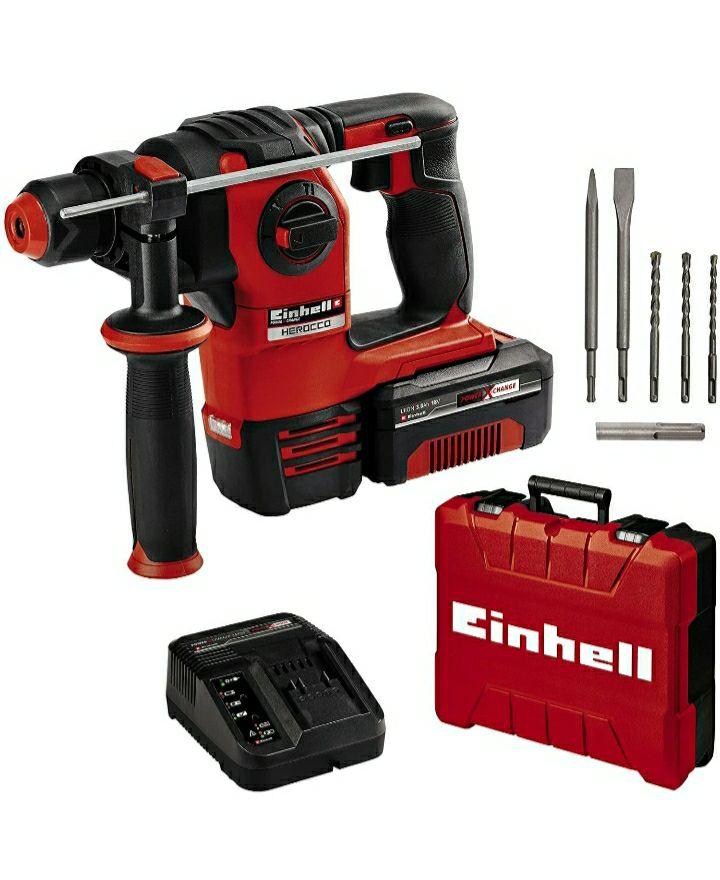 Einhell Akku-Bohrhammer HEROCCO Kit + 5 Power X-Change
